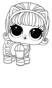 LOL surprise winter disco coloring pages KITTY 500