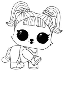 LOL surprise winter disco coloring pages OH BANDIT, BANDIT
