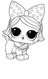 LOL surprise winter disco coloring pages WITCHAY KITTAY
