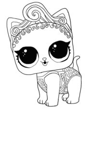 LOL surprise winter disco coloring pages PRECIOUS MEOW