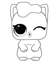 LOL surprise winter disco coloring pages THE KITTEN
