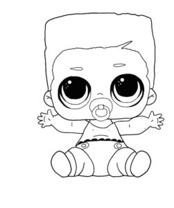LOL surprise winter disco coloring pages LIL SWAG BOI