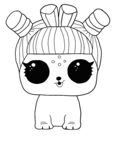 LOL surprise winter disco coloring pages BUN E.D.M.