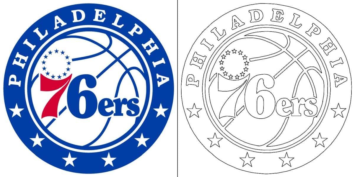 Philadelphia 76ers logo coloring page