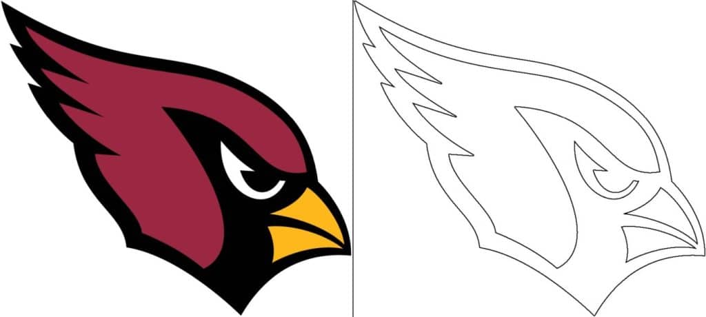 Arizona Cardinals logo coloring page