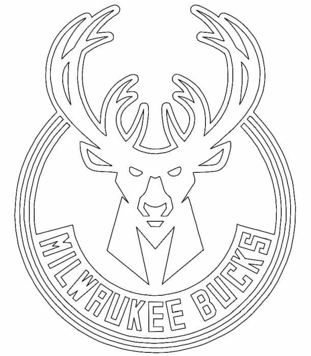Milwaukee Bucks logo coloring page black and white