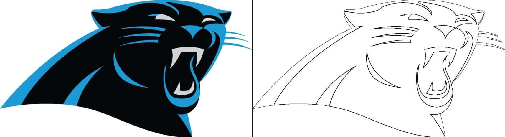Coloriage Logo avec un échantillon de Carolina Panthers