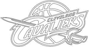 Cleveland Cavaliers logo coloring page black and white