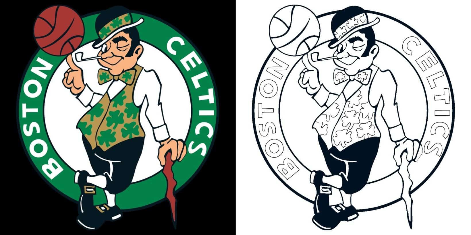 Boston Celtics logo coloring page