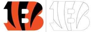 Coloriage Logo avec un échantillon de Cincinnati Bengals