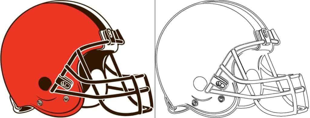 Coloriage Logo avec un échantillon de Cleveland Browns
