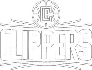 Los Angeles Clippers logo coloring page black and white