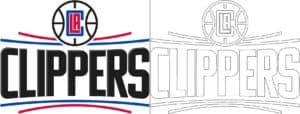 Coloriage Logo avec un échantillon de Los Angeles Clippers