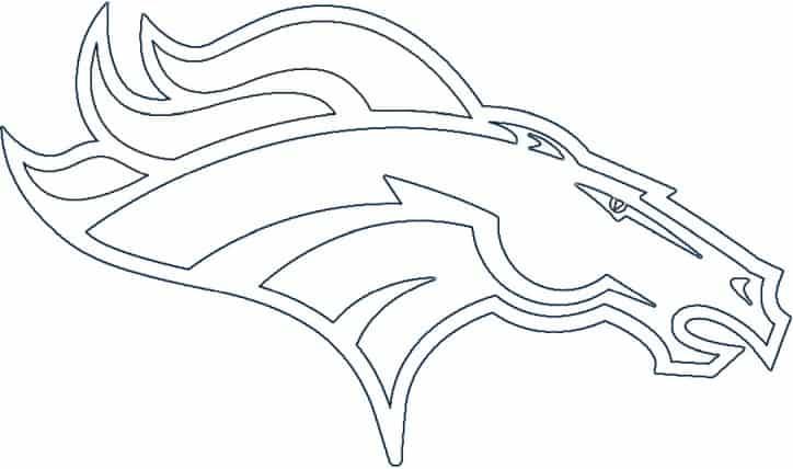 Denver Broncos logo coloring page black and white
