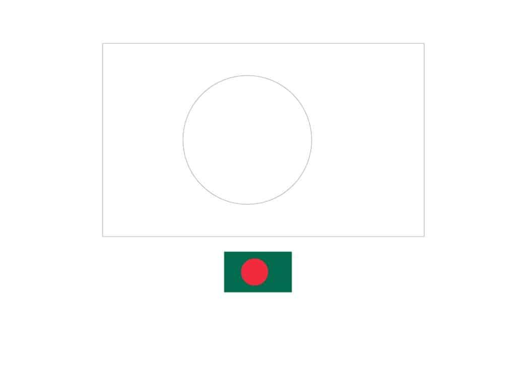 Drapeau du Bangladesh Coloriage