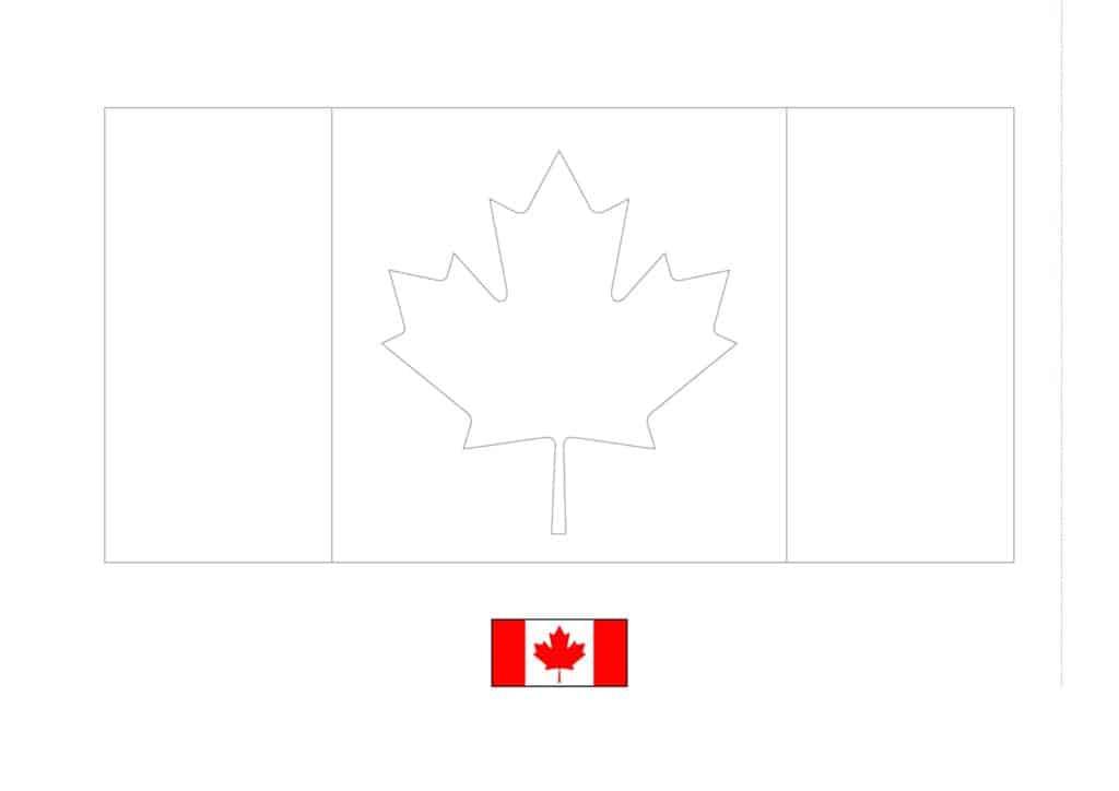 Drapeau du Canada Coloriage