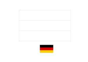 Germany flag coloring page with a sample