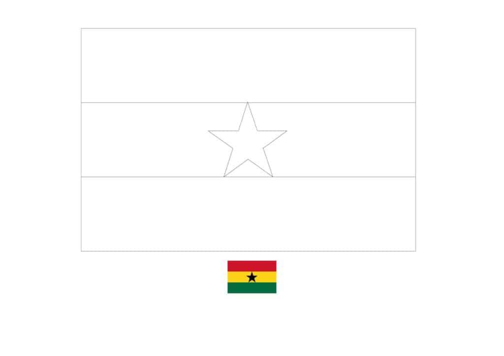 Drapeau du Ghana Coloriage