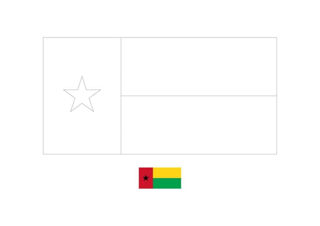 Drapeau de Coloriage Guinée Bissau