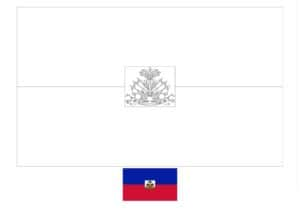 Haiti flag coloring page with a sample