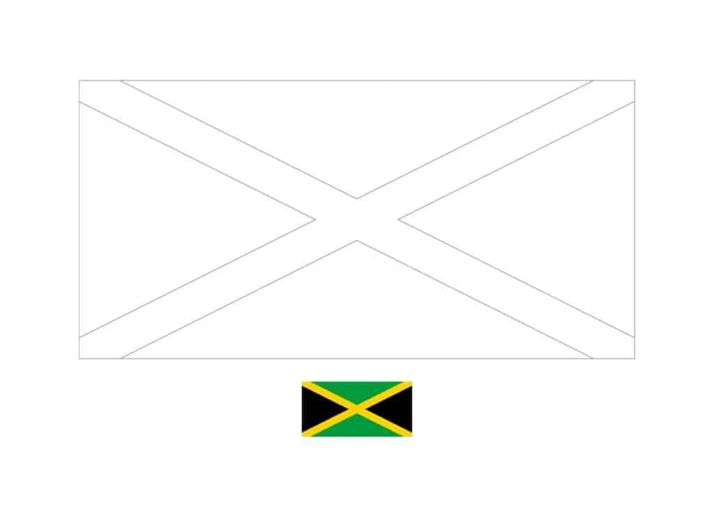 Drapeau de la Jamaïque Coloriage