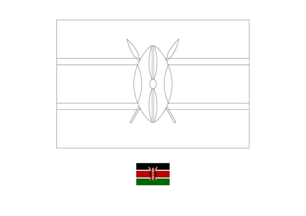 Drapeau de Coloriage Kenya