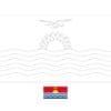 Kiribati flag coloring page with a sample