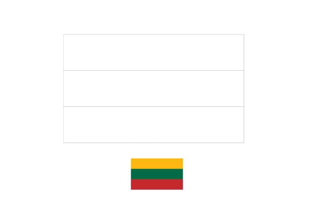 Drapeau de la Lituanie Coloriage