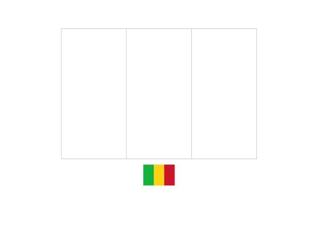 Drapeau du Mali Coloriage