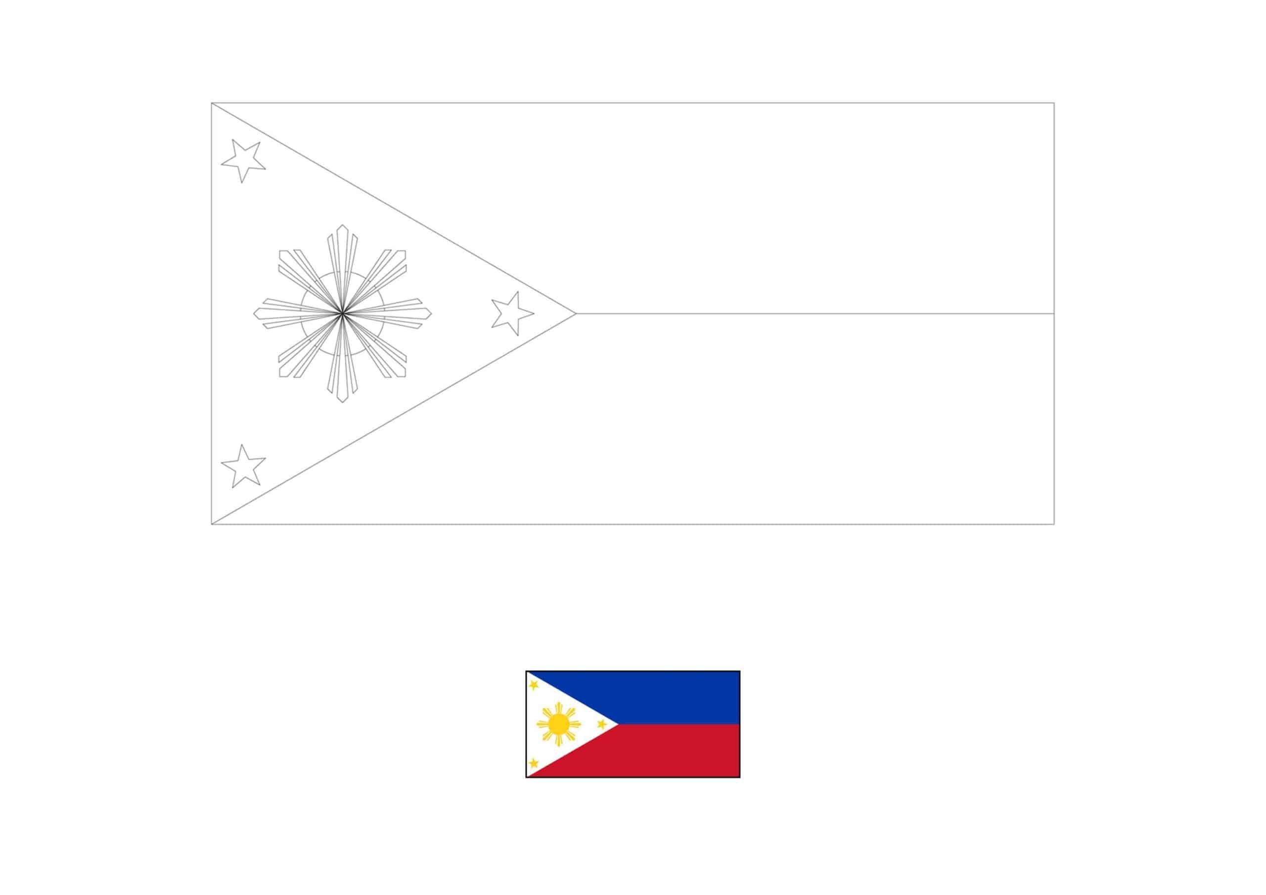 Drapeau de Coloriage Philippines