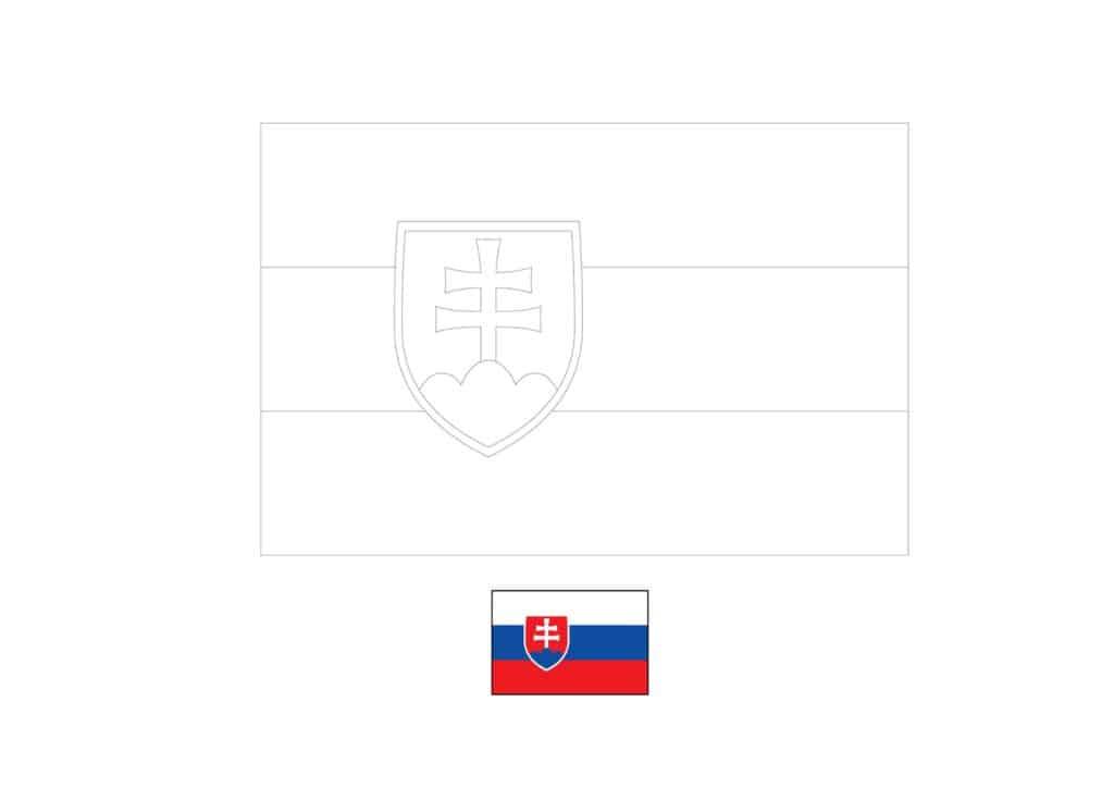 Drapeau de la Slovaquie Coloriage