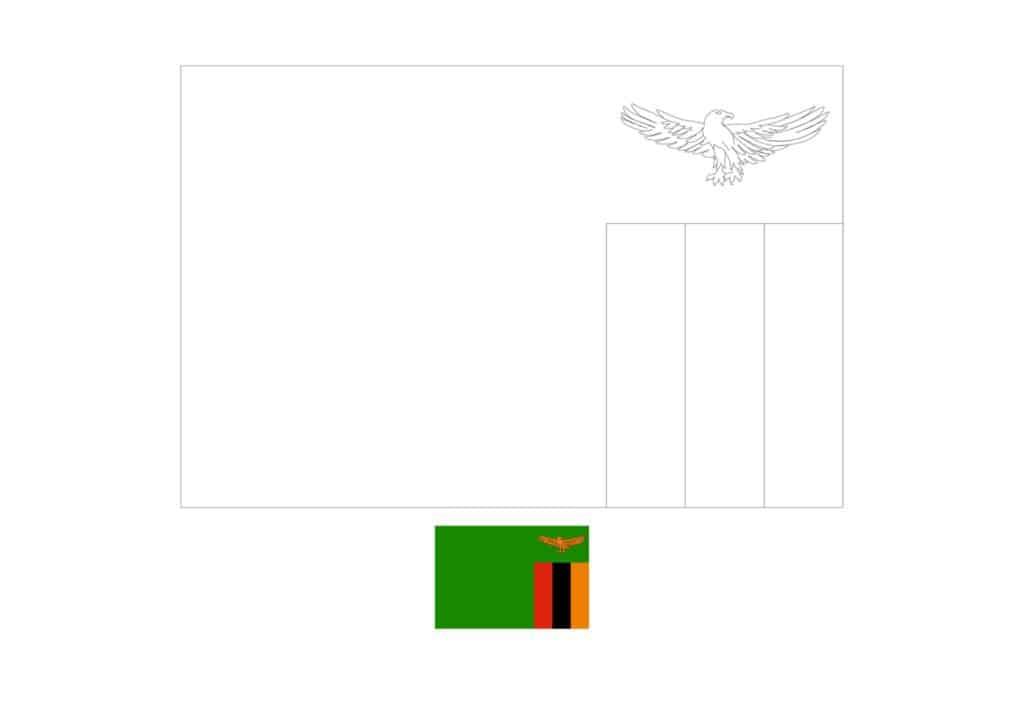 Drapeau de la Zambie Coloriage