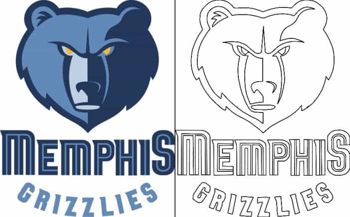 Memphis Grizzlies logo coloring page