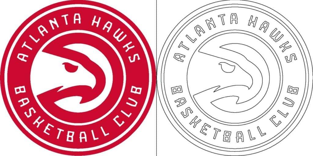 Coloriage Logo avec un échantillon des Atlanta Hawks