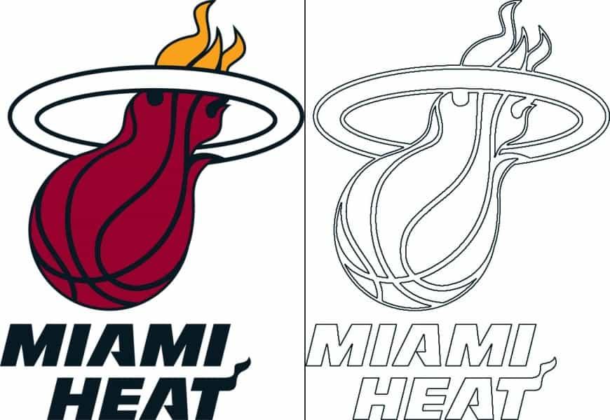Coloriage Logo avec un échantillon du Miami Heat