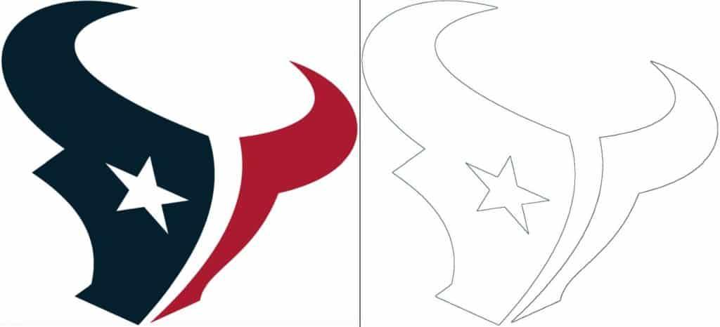Coloriage Logo avec un échantillon des Houston Texans