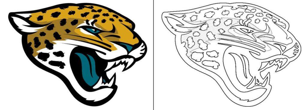 Jacksolnville Jaguars logo coloring page