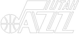 Utah Jazz logo coloring page black and white