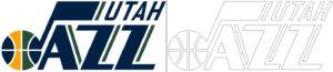 Coloriage Logo avec un échantillon de Utah Jazz