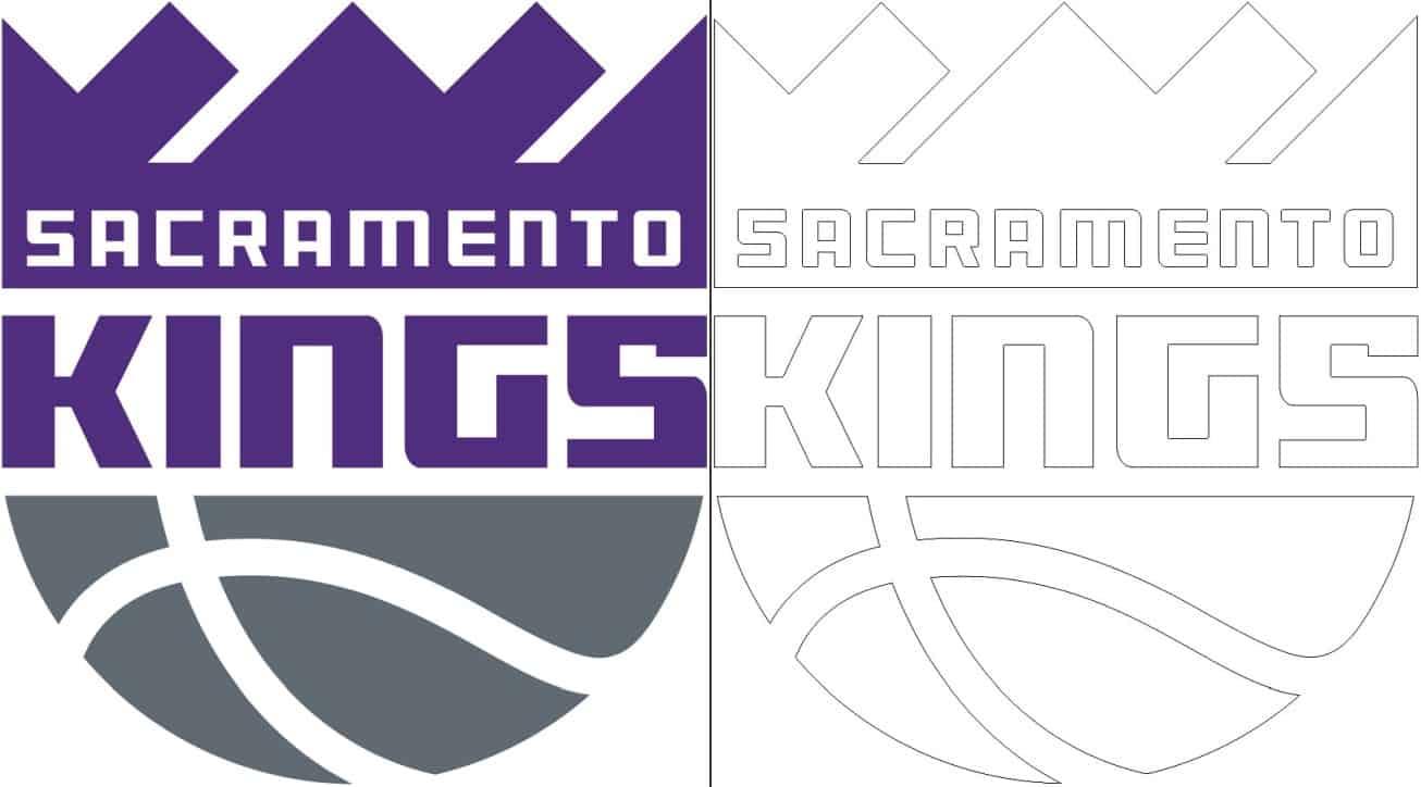 Sacramento Kings logo coloring page