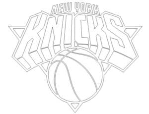 New York Knicks logo coloring page black and white