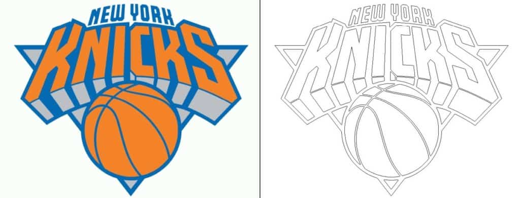 New York Knicks logo coloring page