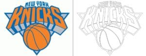 Coloriage Logo avec un échantillon New York Knicks