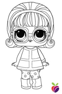 LOL Surprise Sparkle Series coloring page Go-Go Gurl