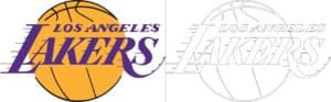 Coloriage Logo avec un échantillon Los Angeles Lakers