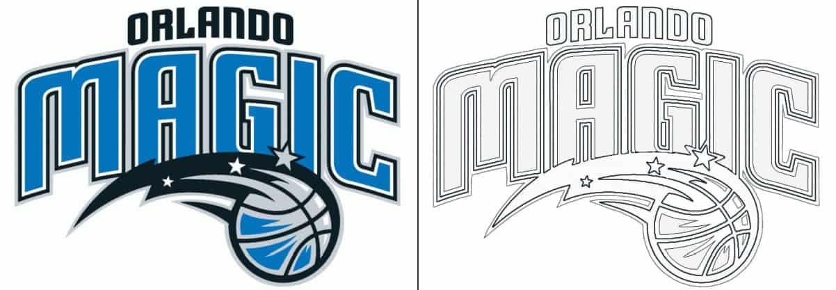 Orlando Magic logo coloring page