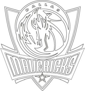 Coloriage Logo Dallas Mavericks