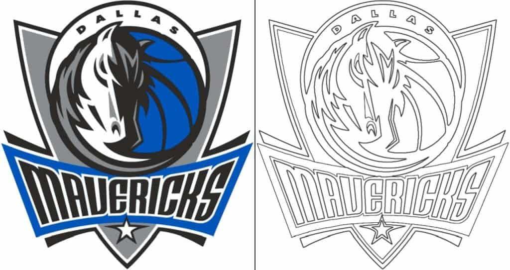 Dallas Mavericks logo coloring page