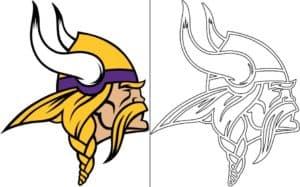 Coloriage Logo avec un échantillon de Minnesota Vikings