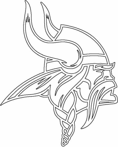 Coloriage Logo de Minnesota Vikings
